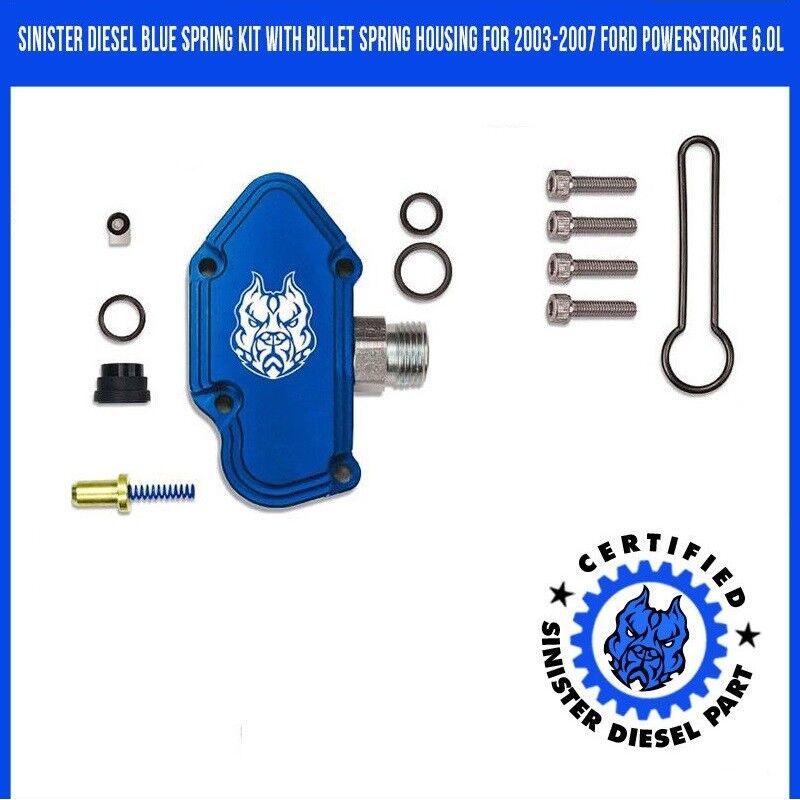 Sinister Diesel Blue Spring Kit with Adjustable Billet Spring Housing