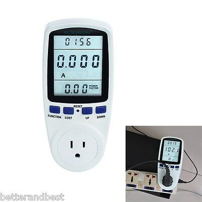 Digital Programmable Power Energy Consumption Meter Switch Monitor Outlet Socket