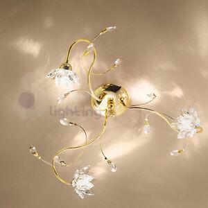 Plafoniera-soffitto-lampadario-design-moderno-acciaio-cromo-oro-fiori ...