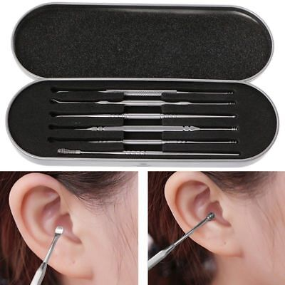 6 pcs Cleaning Set Health Care Tool Ear Pick Ear Wax Remover Cleaner Kit      A4