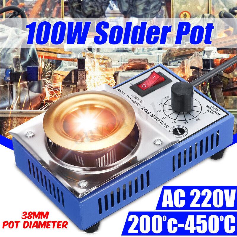 Solder Pot Soldering Desoldering Bath Titanium Melting Plate 220V 250G 38mm !