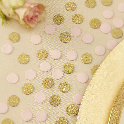 PASTEL PERFECTION - TABLE CONFETTI  - GOLD & PINK GLITTER