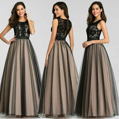 Lace Mesh Gown (Ever-Pretty US Mesh Lace A-Line Homecoming Dress Cocktail Party Gown Long)
