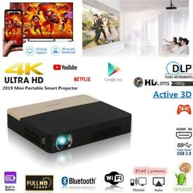 Mini 8500 Lumens Android DLP 1080P HD 4K 3D Wifi Home Cinema Projector DVD HDMI