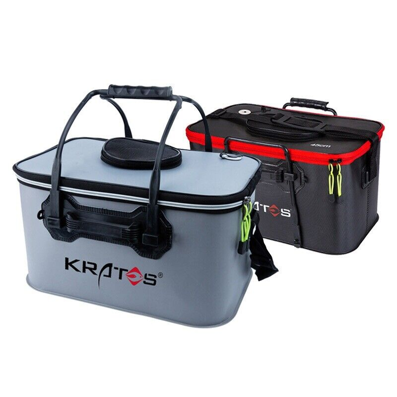 Breathable Fishing Live Bait Box Portable Collapsible Bucket Water Storage US