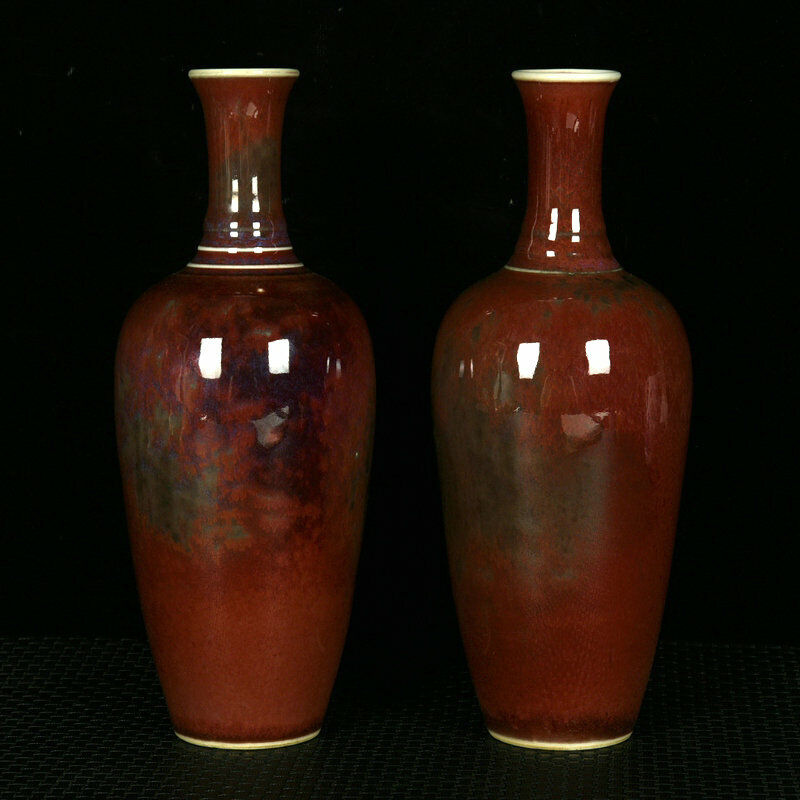 A Pair Chinese Porcelain Handmade Exquisite Vases 17459