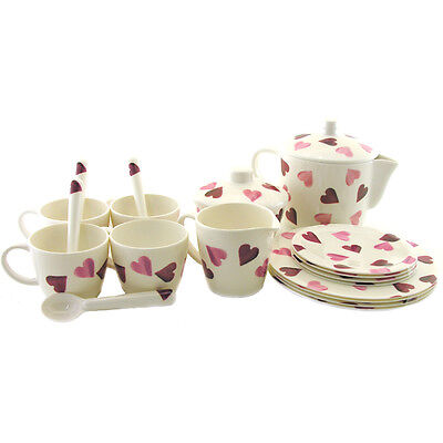 Emma Bridgewater Pink Hearts Melamine Children's Tea Set