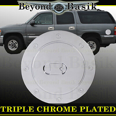 - 1999-2006 CHEVY SILVERADO Triple ABS Chrome Fuel Gas Door Cover Cap Overlay Trim