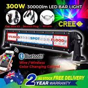 22'' 300W CREE 5D LENS LED Light Bar Flood Spot RGB 4WD Offroad North Melbourne Melbourne City Preview