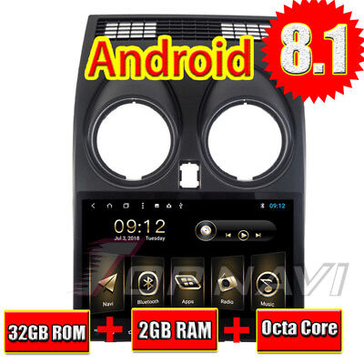 Car GPS Crystal set For Nissan Qashqai 2007-2013 Android 8.1 Central Multimedia Stereo
