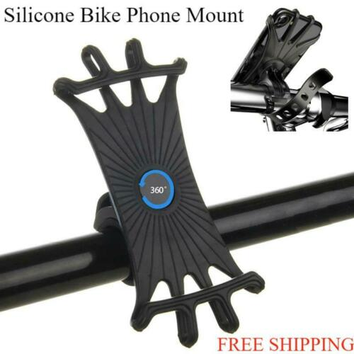 Cell Phone Silicone Mount Holder GPS Motorcycle Bike MTB Bicycle 360 Rotation - $4.97