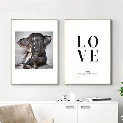 Elephant Religion Canvas Poster Abstract Wall Art Print Living Room - Elephant Room Decor