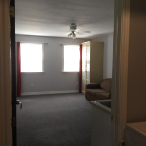 A clean and bright bachelor apartment for rent in Wolfville.