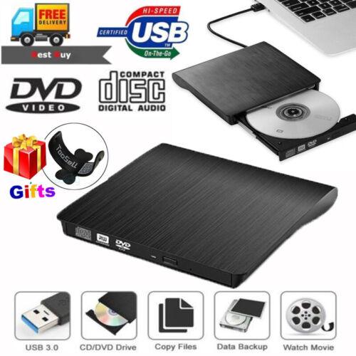2019 External USB 3.0 DVD RW CD Writer Drive Burner Reader P