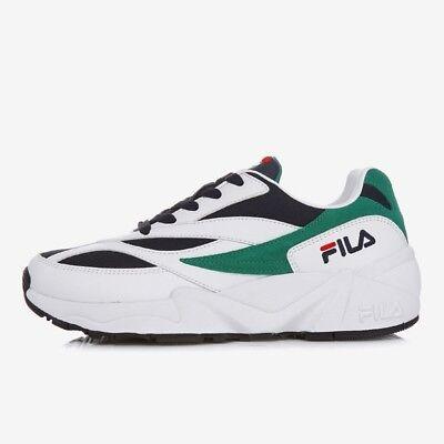 Fila Venom 94 Athletic Shoes Unisex Sneakers White  Navy Green Size 10