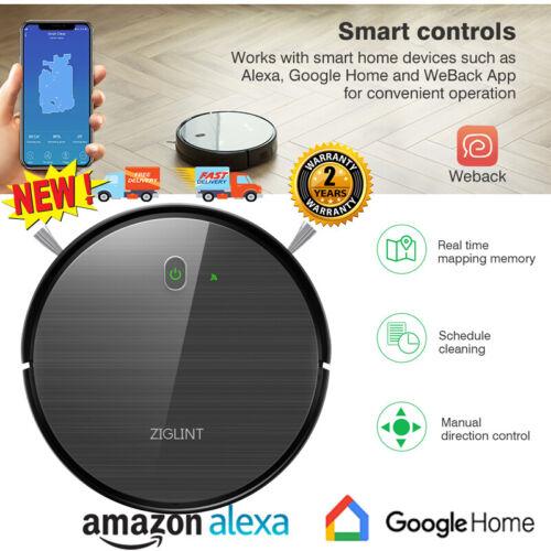 Ziglint D5 Robot Vacuum Cleaner - Control with Alexa & Googl