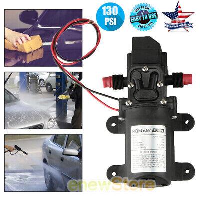 12V Water Pump 130PSI Self Priming Pump Diaphragm High Pressure Automatic Switch (Automatic Water Pressure Pump)
