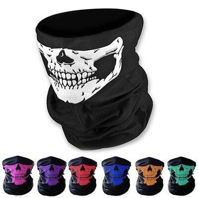- Skull Bandana Mask Tube Scarf Skeleton Motorcycle Headband Ski Face Neck Jaw