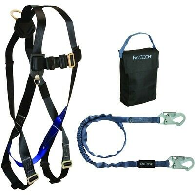 Falltech Fall Protection Safety Harness With Attached 6 Lanyard