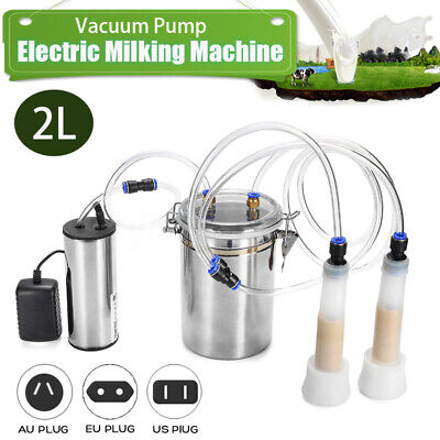 2l Electric Milking Machine Vacuum Pump Strong Suction Milker Tank For Cow