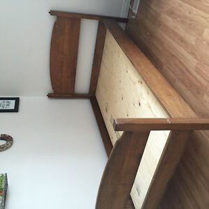 Solid oak bed frame single bed Stratford Kitchener Area image 3