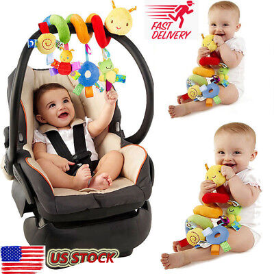 New Activity Spiral Stroller Car Seat Travel Lathe Hanging Toys Baby Rattles Toy ()