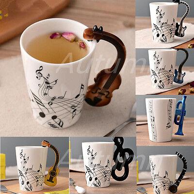 Novelty Music Guitar Ceramic Cup Milk Mug Coffee Tea Cup Home Office Gift (Novelty Mug)