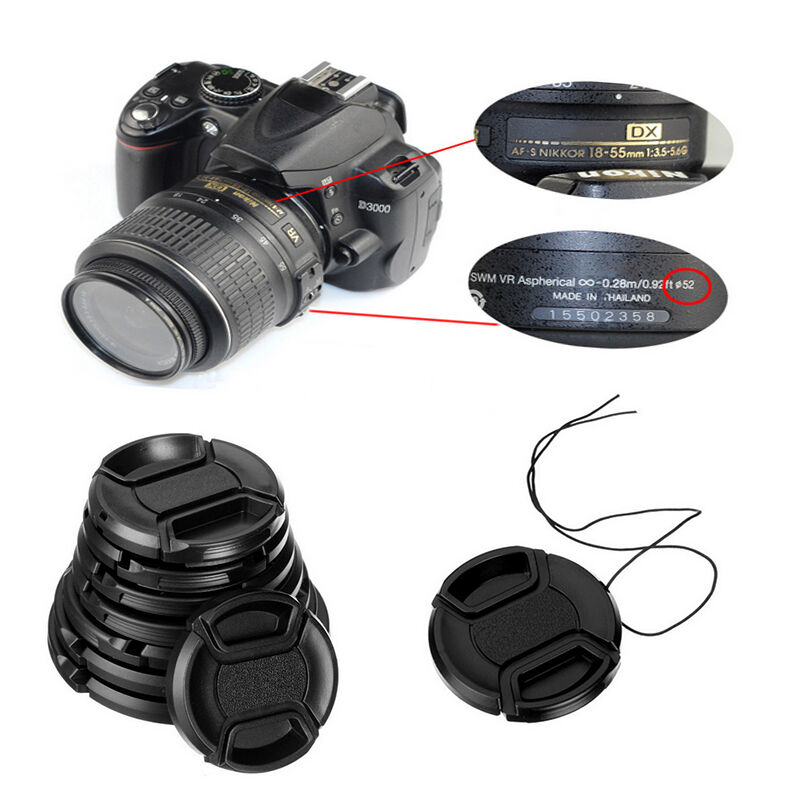 40mm-82mm Snap Lens Cap Cover For Sony, Nikon, Olympus, Pentax, Panasonic, Fuji