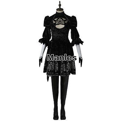 NieR:Automata 2B YoRHa No. 2 Type B Heroine Dress Adventure Game Cosplay Costume - Heroine Costume