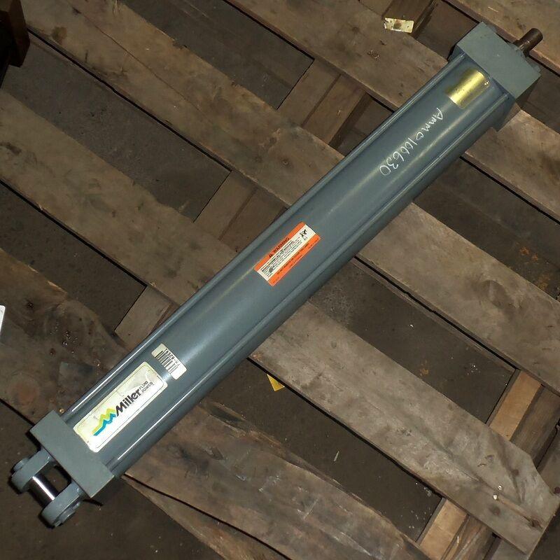 MILLER 3&1/4 BORE 250PSI 6 WS STROKE FLUID POWER HYDRAULIC CYLINDER J84B2C