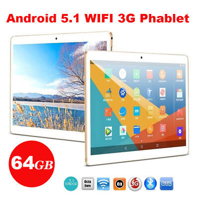 10.1'' Tablet PC Android 6.0 OctaCore 4+64GB HD Wifi 2 SIM 4G Phablet IPS Select