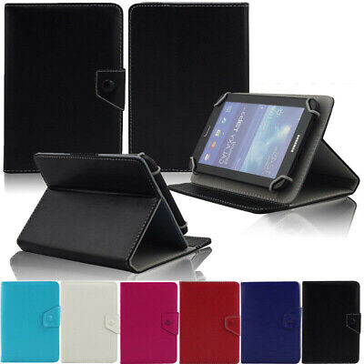 """For NuVision 8"""" In Tablet Universal PU Leather Folding Folio Stand Case Cover US"""