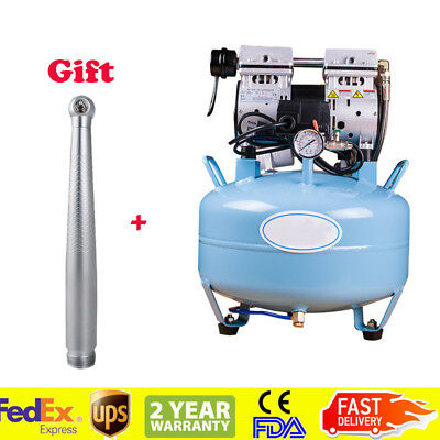 Dental Silent Noiseless Oilless Air Compressor 32l 550w High Speed Handpiece 2h