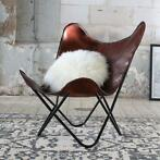 60% KORTING! Butterfly Chair Bruin leer