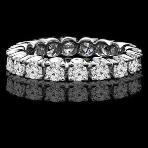 Diamond wedding ring 5.50CTW Bague de marriage éternité