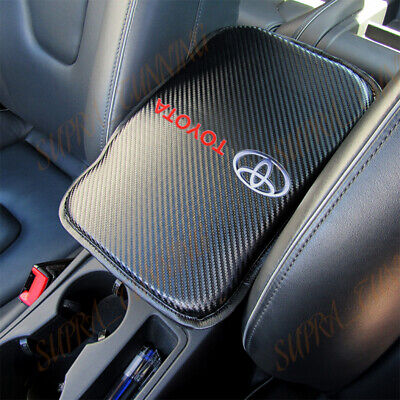 X1 For NEW TOYOTA Carbon Fiber Car Center Console Armrest Cushion Mat Pad Cover 66 Armrest Base