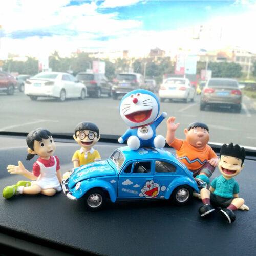 1 Set Doraemon Family portrait Figures Kawaii Car Decorations Home Decor