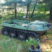 Argo 8x8 with tracks and 8 spare rims & tires