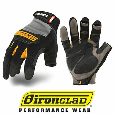 Ironclad Framer Fug Fingerless Carpentry General Work Gloves - Select Size