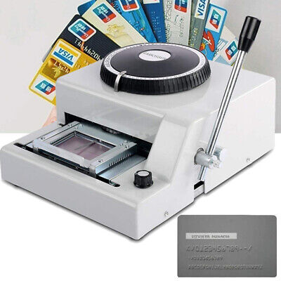 72 Character Manual Embosser Stamping Machine For Pvcidcredit Vip Card