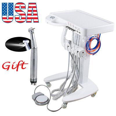 4hole Dental Delivery Mobile Cart Unit Machine No Compressor Equipment Handpiece