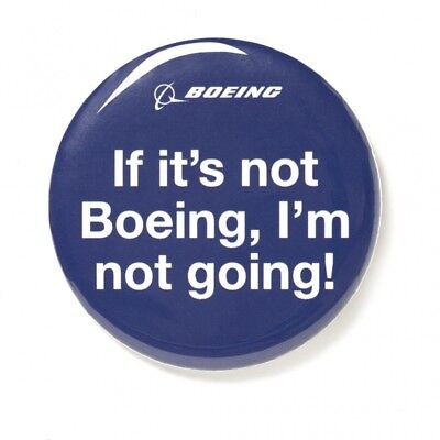If it's not Boeing, I'm not going!  Button aus Metall mit Anstecknadel
