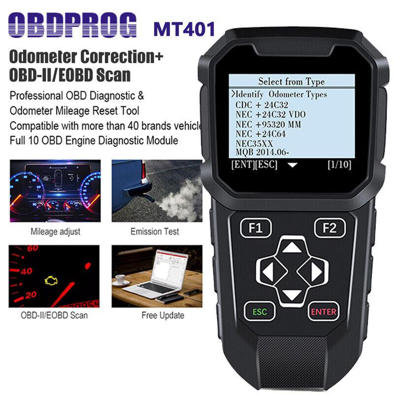 Automotive OBD2 Mileage Car Correction Diagnostic Odometer Scanner Adjustment