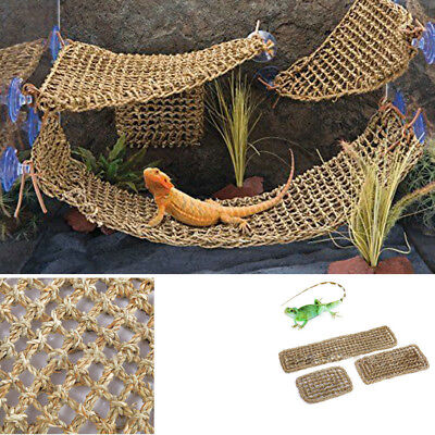 Reptile Hammock Lizard Lounger Anoles Geckos Tank Decor Accessories Hanging - Reptile Decor