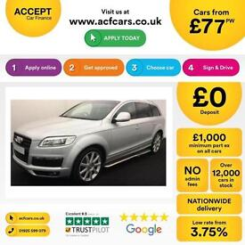 Audi Q7 3.0TDI ( 237bhp ) Tiptronic 2009MY quattro S Line FROM £77 PER WEEK