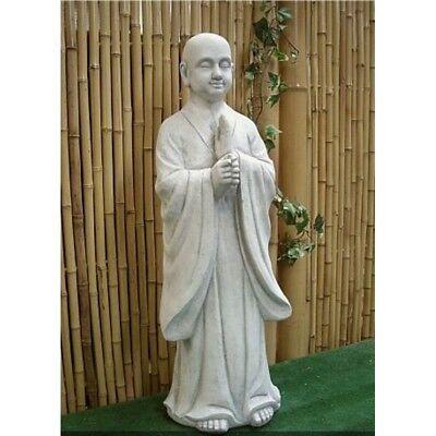 MÖNCH BUDDHA STEINGUSS GARTEN FROSTFEST FIGUR FIGUREN SKULPTUR FROSTFEST PO-606