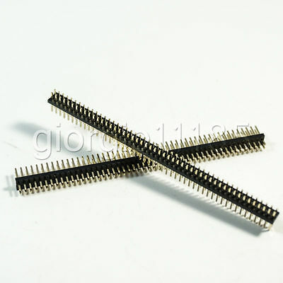 Us Stock 10pcs 50-pin 50p 1.27mm Male Double Row Pin Header Strip