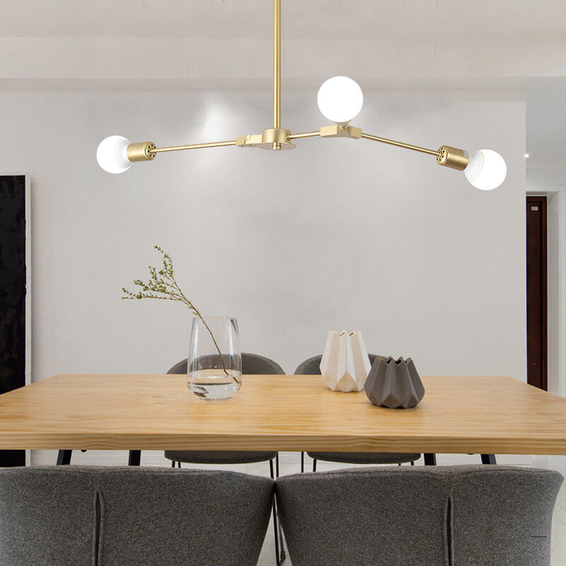 Details about Kitchen Pendant Lighting Modern Ceiling Light Bedroom Lamp  Golden Pendant Light