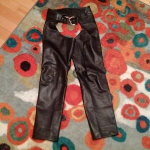 Custom made leather womens chaps