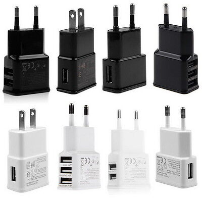 2 Port Wall (5V 2A 1 2 3-Port USB Wall Adapter Charger US/EU Plug For Samsung S5 S6 iPhone SL)